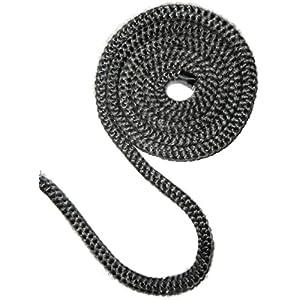 Cable de dichtschnur para estufas colour negro/antracita diferentes fortalecer, 6mm