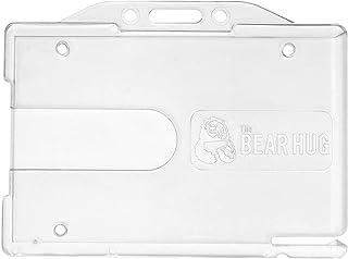 CKB LTD Lot de 10 porte-badges d'identification horizontaux en plastique transparent de qualité supérieure avec fente d'éj...