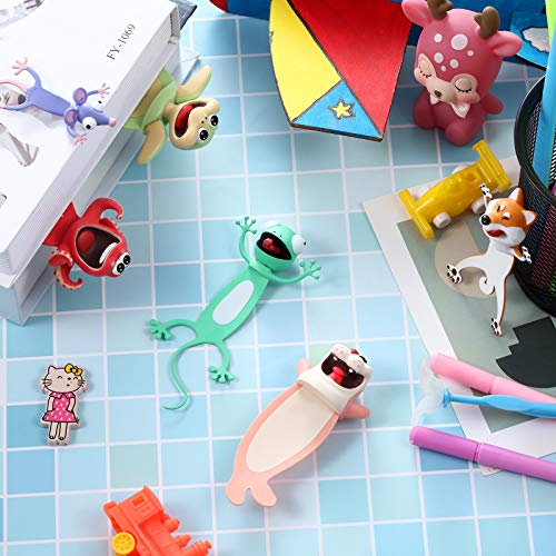 14 Pieces Wacky Ouch Bookmarks Animal Bookmarks 3D Bookmark for Kids Cartoon Christmas Bookmark Novelty Funny Stationery Birthday Party Favors for Student Teens Boys Girls Help with Reading Photo #6