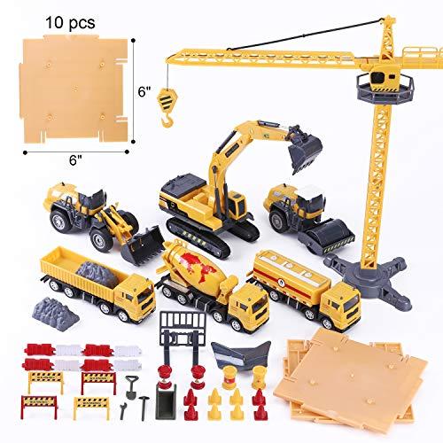 iPlay, iLearn Construction Site Vehicles Toy Set