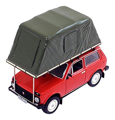 Norev IXOIST295MR Scala 1: 43' Ist Models 1981Lada Niva con Tenda Tetto Rosso Modello di Auto