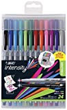 BIC Intensity Fineliner Medium Fine Point Pens, 0.4-1.0mm – Set of 24 Markers