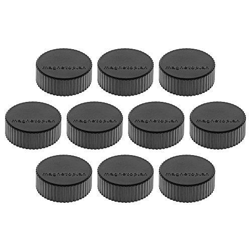 Magnethalter Magnum, Durchmesser 34 x 13 mm, 10 Stück, schwarz