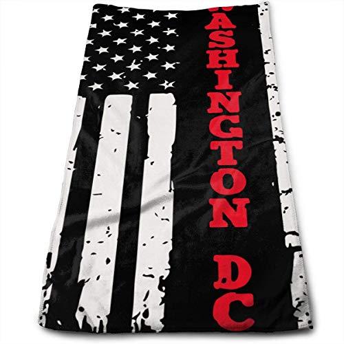 Bert-Collins Towel Washington DC Bandera de línea Fina roja Toallas de Playa Toallas de Playa 80x130cm
