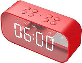 TAOHOU Bt501 Led Miroir Réveil Sans Fil Mini Miroir Avec Ecran Horloge Carte Cadeau Rouge BT501