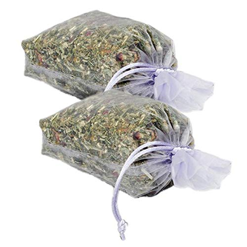 Natural Scented Potpourri Sachets - Made in the USA with Botanicals, Lavender Bossoms and Essential Oils by MoonDance Soaps (Set of 2 Bags, LAVENDER)