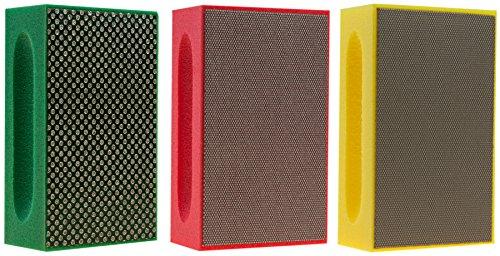KGS PRO-PAD Diamond Hand Polishing pads (3 Pack, Combination set (grit 60, 200, 400))