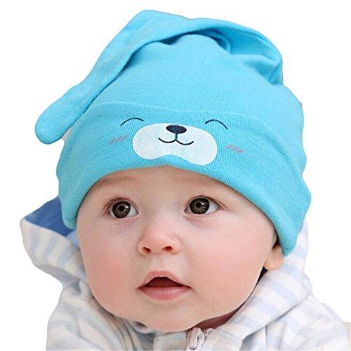 Baby Cute Mütze neugeborenes schlafendes Strick Mütze Hut (Blau 1#)