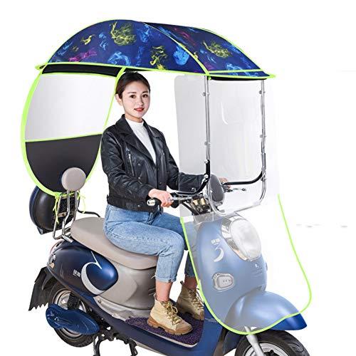 Universele scootmobiel Paraplu Mobiliteit Zonnescherm & Regenhoes Waterdicht, Batterij Auto Luifel Parapluhoes Roestvrij staal gevouwen