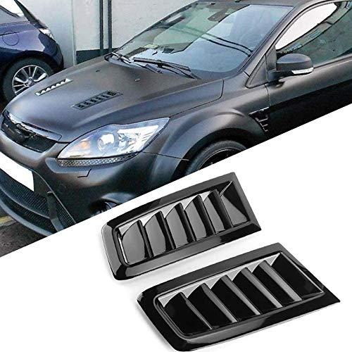 Blossion Campana De Ventilación del Capó Cubierta De Ventilación For Ford Focus MK2 Coche Negro ABS Salida De Aire Modificado Accesorios