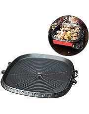 starte Fyrkantig grillpanna i koreansk stil med majfansten belagd yta, rökfri non-stick grillplatta av gjuten aluminium för grillen inomhus och utomhus