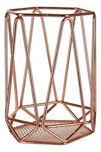 Premier Housewares Vertex Utensilienhalter, verkupfert, Kupfer, 12 x 12 x 16 cm