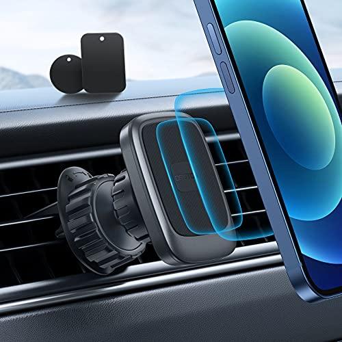 Supporto Telefono per Auto,OMOTON Supporto Magnetico per Cellulare,Porta Cellulare da Auto per Presa d'aria Universale con Rotazione a 360 ° e Clip Aggiornata,Compatibile con Qualsiasi Smartphone