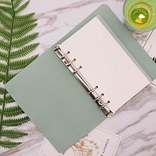 Binder CoverA6 A5Hardbound Agenda Notebook, 6 anillas, planificador de cubierta de carpeta, botón y cierre de lazo elástico (A6)