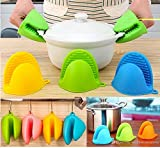 Manovruti Silicone Pot Holder Heat Resistant, Oven Mitts Glove Cooking Pinch Grips Glove Hand Clip...