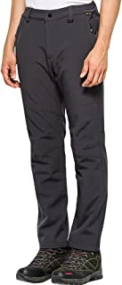 Jessie Kidden Waterproof Pants Mens, Hiking Snow Ski Fleece Lined Insulated Soft Shell Winter Pants with Belt