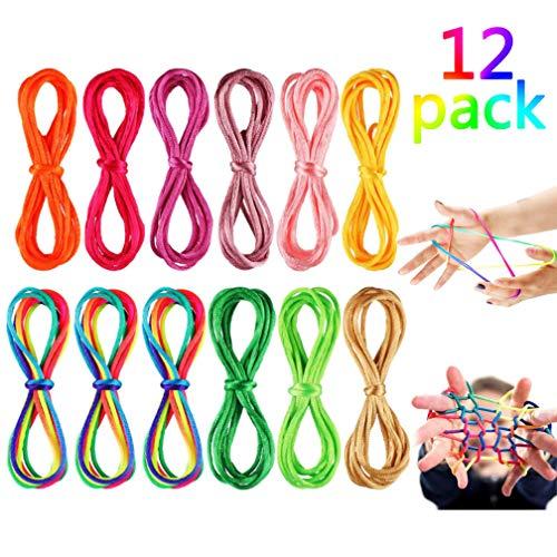 12 Piezas Cuerdas de Mecer de Gato Cuerda Arcoiris Cuerda de