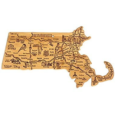 Totally Bamboo Massachusetts State Destination Bamboo Serving and Cutting Board
