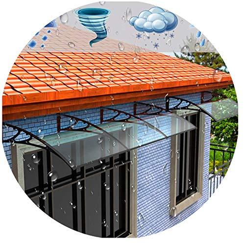 Esterno Porta Tettoia, Tendalino Parasole da Giardino Garage for Biciclette Riparo for Pioggia e Neve Supporto in Lega di Alluminio (Color : Clear+Bla