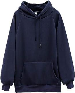 Sweetbei J Womens Winter Casual Hoodie Oversized Pocket Kangaroo Sweatshirt Pullover