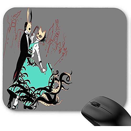Office Mauspad,Gaming Mausepad,Rutschfeste Unterseite Mousepad,Maus Pad,Bio Shock Dancing Maske Mauspad 30X25Cm