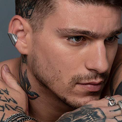 Ohr Manschette für Männer, Herren Ohrring, Ohrring für Männer, Unisex Ohrring, gehämmert Sterling Silber Earcuff Ohrring, ungewöhnliche Herren Geschenk, Freund Geschenk