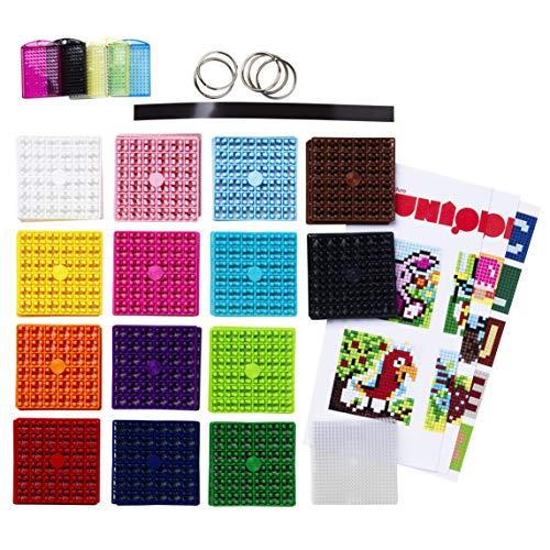 Panduro Pixel Hobby XL Bastelset Box - Pixel Bastelkoffer für Kinder ab 6 Jahre mit Schlüsselanhänger