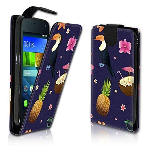 wicostar Vertikal Flip Style Handy Tasche Hülle Schutz Hülle Schale Motiv Etui Karte Halter für Huawei Ascend Y550 - Variante VER21 Design11