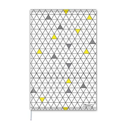 NERDY Notizbuch Cover A5 / Nachfüllbar/Umschlag aus Tyvek® / 160 Blankoseiten Creme Munken Papier