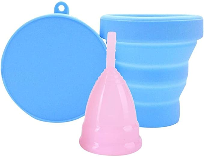 Copas menstruales reutilizables, copas plegables de silicona ...