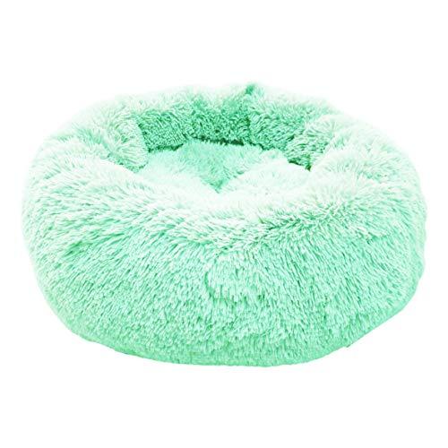 E-dogbed Exklusives weiches und kuscheliges Hundebett Fuzzy Haustierbett Hundebett Kuschelkissen Katzensofa Hundehöhle Katzenbett für kleine, mittelgroße Haustiere Donut-Form