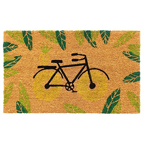 """Rugsmith Bicycle Coir Doormat Fußmatte, Kokosfaser, gelb, 18"""" x 30"""""""