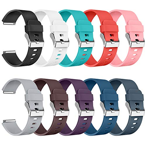 Compatible with Blaze Bands Small Large, Replacement for Blaze Accessories Wristband Watch Sport Strap for Smart Watch Tracker Women Men Teends Stripe Texture 10 Pack No Tracker
