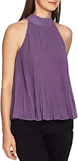 1. STATE Halter-Tie Pleated Top Dusty Plum XL
