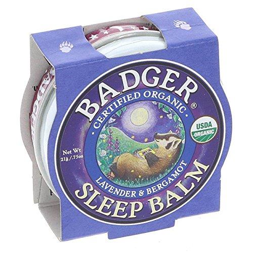 Badger Bálsamo Orgánico Mini Sleep Bálsamo Orgánico Lavanda y Bergamota (21g) - Paquete de 3