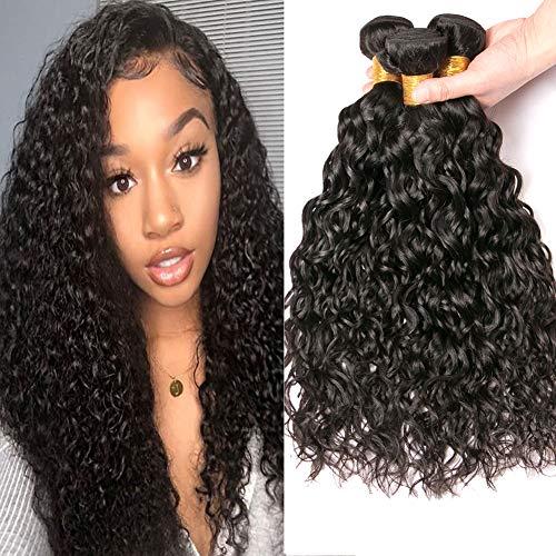 12a Virgin Brazilian Water Wave Bundles 14 16 18 Inch Human Hair Weave Extensions Natural Color