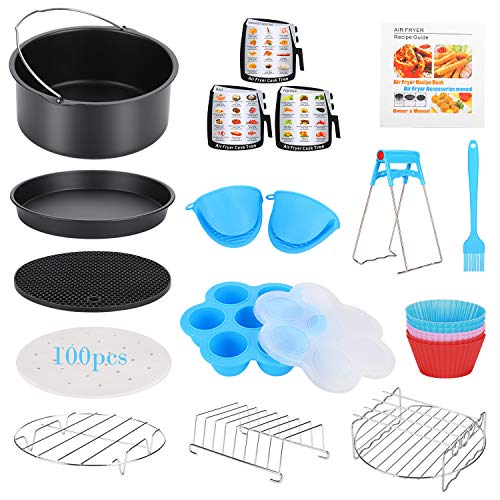 16 Pcs Air Fryer Accessories with Recipe Cookbook for Growise Phillips Cozyna Fits All 3.2QT - 5.8QT Air Fryer, 7in Deep Fryer Accessories