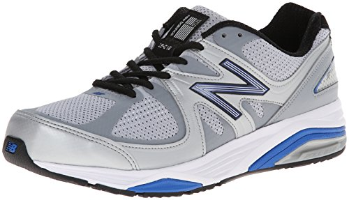New Balance Men's Made 1540 V2 Running Shoe, Silver/Blue, 9.5 M US