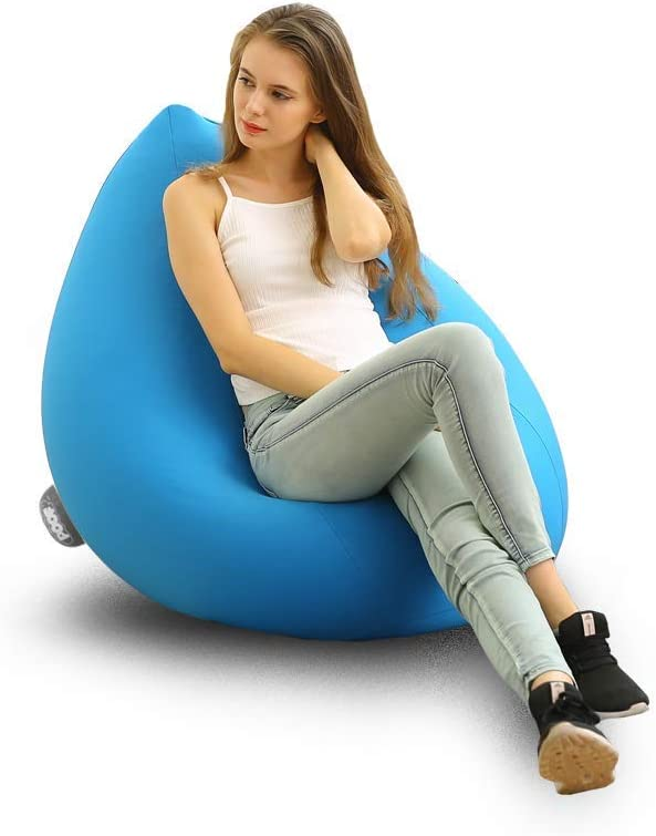 Poof Sofa 安い 激安 プチプラ 高品質 Color Blue and Anti-Stress Filled Mic with Relaxation 海外輸入