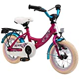 Rad BIKESTAR Premium Sicherheits Kinderfahrrad 12 Zoll für Mädchen ab 3-4 Jahre | 12er Kinderrad Classic | Fahrrad für Kinder Pink & Weiß für Kinder bei Amazon