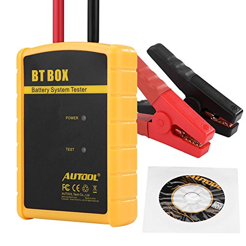 Suuonee Batterietester, 12V BT BOX Autodiagnose-Batteriesystem-Tester Auto-Ladeanalysator für iOS/Android