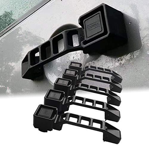 MAIKER OFF ROAD Compatible with Door Handle & Tailgate Handle 2007-2018 Jeep Wrangler JK 4 Door 5pcs/Set(Black)
