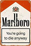 Marlboro You'Re Going To Die Anyway Blechschild Metall