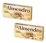 El Almendro - Pack incluye 2 Turrón Nata Nuez - 200 gr Calidad suprema Sin gluten