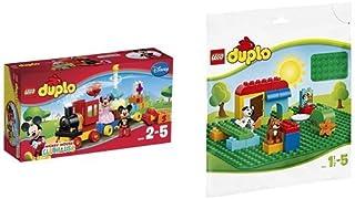 レゴ (LEGO) デュプロ ディズニー ミッキーとミニーのバースデーパレード 10597 & デュプロ 基礎板(緑) 2304