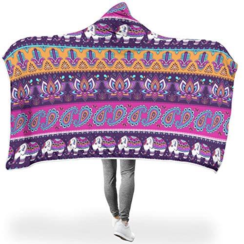 Ainiteey functionele kleurloze draagbare dekens Voel je zacht voor slaapbank in koud weer, familiestijl olifant