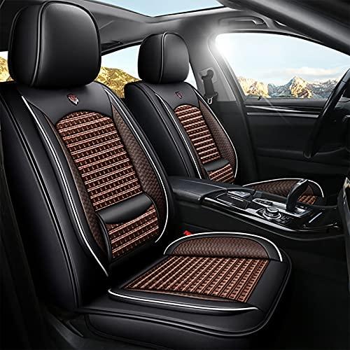 Asiento de automóvil cuatro estaciones cubierta de asiento envolvente completa universal nueva cubierta de asiento de cuero red de seda de hielo cojín de asiento de automóvil rojo productos interiores