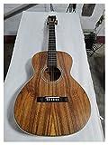 YYYSHOPP Guitarra Byron OOO Parlor Guitarra Profesional Sólido Wood Ebony Satin Guitar Acústica OO Guitarras acústicas adecuadas para Jugadores en Todas Las etapas