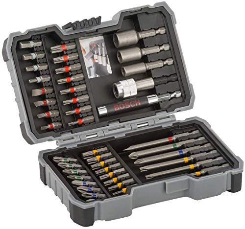 Bosch - Set de 43 unidades para atornillar y llaves de vaso (Ph,Pz,Sl,H,T,Th)