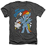 My Little Pony Tv 20 Percent Cooler Unisex Adult Heather T Shirt for Men and Women, 2X-Large Charcoal